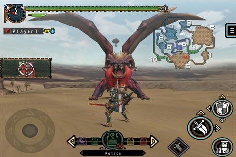 怪物猎人P2G FOR iOS游戏截图