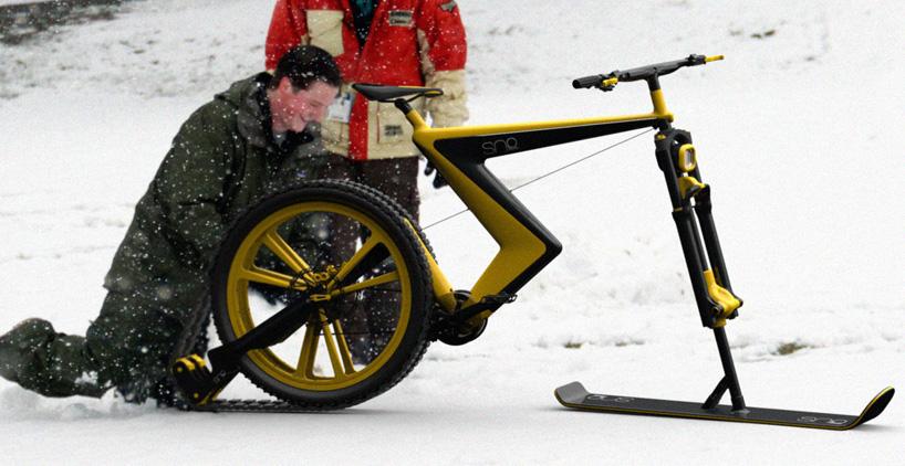 雪地概念自行车