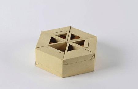 巧妙精致的三角形纸盒鸡蛋包装