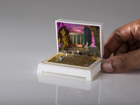 奇巧!艺术家设计场景小盒子