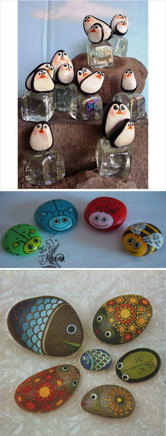 鹅卵石彩绘 平凡石头的艺术之旅