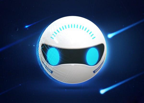 化的眼睛,让微宝智能球型机器人看上去更加调皮可爱
